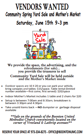 Yard Sale - Vendors Wanted