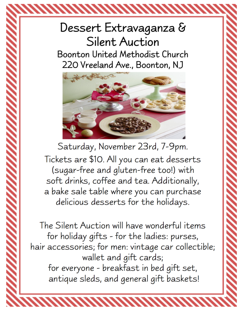 Dessert Silent Auction Flyer