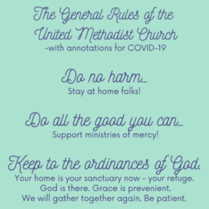 List of rules of the United Methodist Church